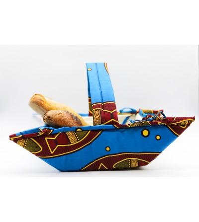 Panier à pain coloré Wax - L. 27 x l. 27 cm