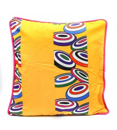 Housse de Coussin coloré Wax - L. 50 x l. 50 cm