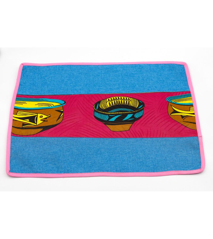 Set de table coloré Wax - L. 42 x l. 32 cm