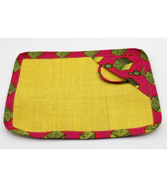 Set de table coloré Raphia- L. 42 x l. 32 cm