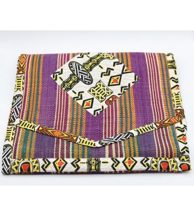 Chemin de table coloré Raphia - L. 180 x l. 44 cm