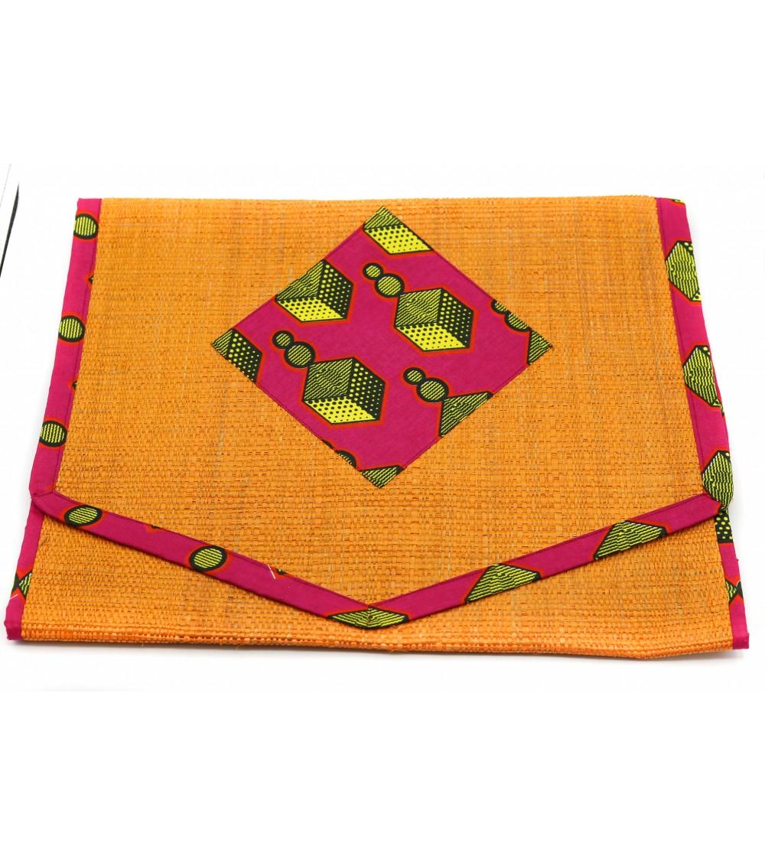 Chemin de table coloré Raphia - L. 180x l. 44 cm