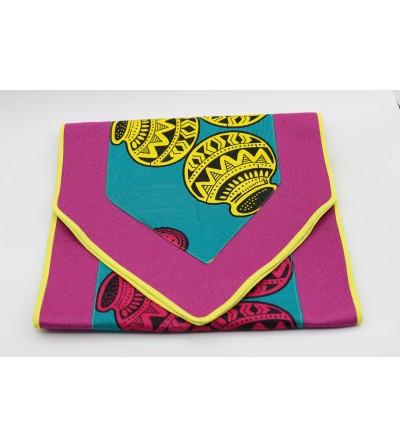 Chemin de table coloré Wax - L. 180 x l. 45 cm